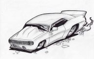 Black And White Car Drawings  15 Cool Hd Wallpaper