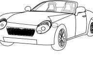Black And White Car Drawings  18 Background