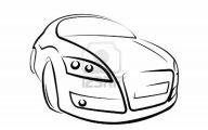 Black And White Car Drawings  5 Desktop Wallpaper
