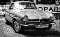 Black And White Cars Alfa Romeo  32 Wide Wallpaper