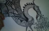 Black And White Images Of Dragons  16 Widescreen Wallpaper