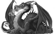Black And White Images Of Dragons  24 Desktop Wallpaper