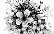 Black And White Images Of Flowers  7 Background