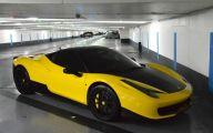 Black And Yellow Ferrari 14 Background