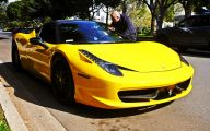 Black And Yellow Ferrari 2 Free Wallpaper