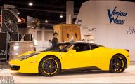 Black And Yellow Ferrari 21 High Resolution Wallpaper