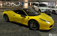 Black And Yellow Ferrari 25 Wide Wallpaper