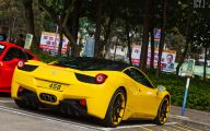 Black And Yellow Ferrari 29 Background