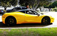 Black And Yellow Ferrari 9 High Resolution Wallpaper