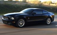Black Ford Mustang  1 Background Wallpaper