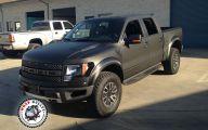 Black Ford Raptor  24 Wide Wallpaper