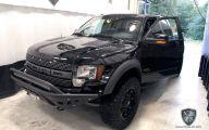 Black Ford Raptor  30 Wide Wallpaper