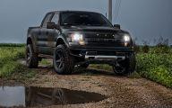 Black Ford Raptor  34 Widescreen Wallpaper