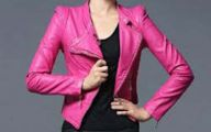 Pink And Black Leather Jacket  1 Background