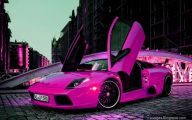Pink And Black Race Cars 8 Widescreen Wallpaper
