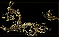 Black And Gold Wallpaper Border  11 Background Wallpaper
