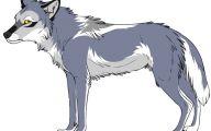 Black And White Anime Wolves  13 Desktop Wallpaper
