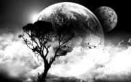 Black And White Moon Pictures  1 Widescreen Wallpaper