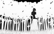 Black And White Pictures Anime Forest  11 Widescreen Wallpaper