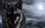 Black Anime Wolf  1 High Resolution Wallpaper