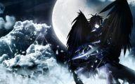 Black Anime Wolf  21 Widescreen Wallpaper