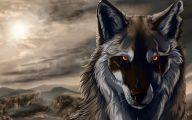 Black Anime Wolf  8 Wide Wallpaper