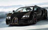Black Bugatti  109 Widescreen Wallpaper