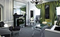 Green And Black Living Room  26 Cool Wallpaper