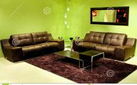 Green And Black Living Room  31 Cool Wallpaper