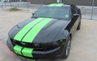 Green And Black Mustang  22 Widescreen Wallpaper