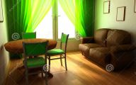 Green And Black Room  3 Cool Hd Wallpaper