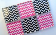Pink And Black Chevron  17 Widescreen Wallpaper