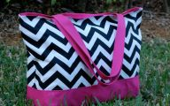 Pink And Black Chevron  3 Widescreen Wallpaper