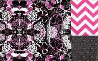 Pink And Black Chevron  6 Background Wallpaper