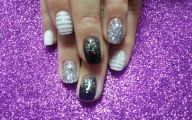 Black And Silver Nail Designs 10 Background