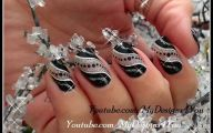 Black And Silver Nail Designs 2 High Resolution Wallpaper