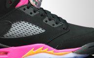 Pink And Black Jordans 12 High Resolution Wallpaper