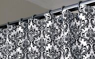 Black And White Curtain 29 Wide Wallpaper