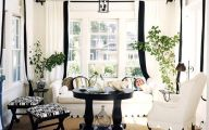 Black And White Curtain 3 Wide Wallpaper