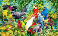 Parrot 6 Wide Wallpaper