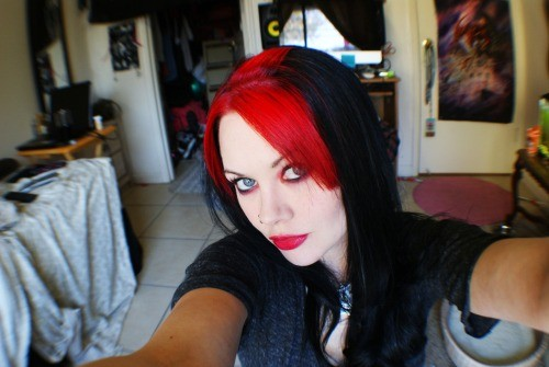 Hair Color Black And Red 35 High Resolution Wallpaper