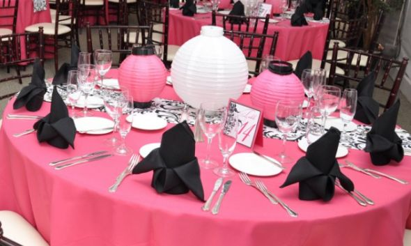 Pink and black decorations high resolution wallpaper