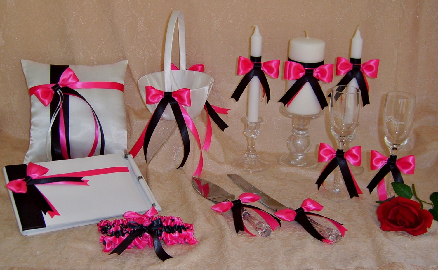 Hot Pink Black And White Wedding Theme