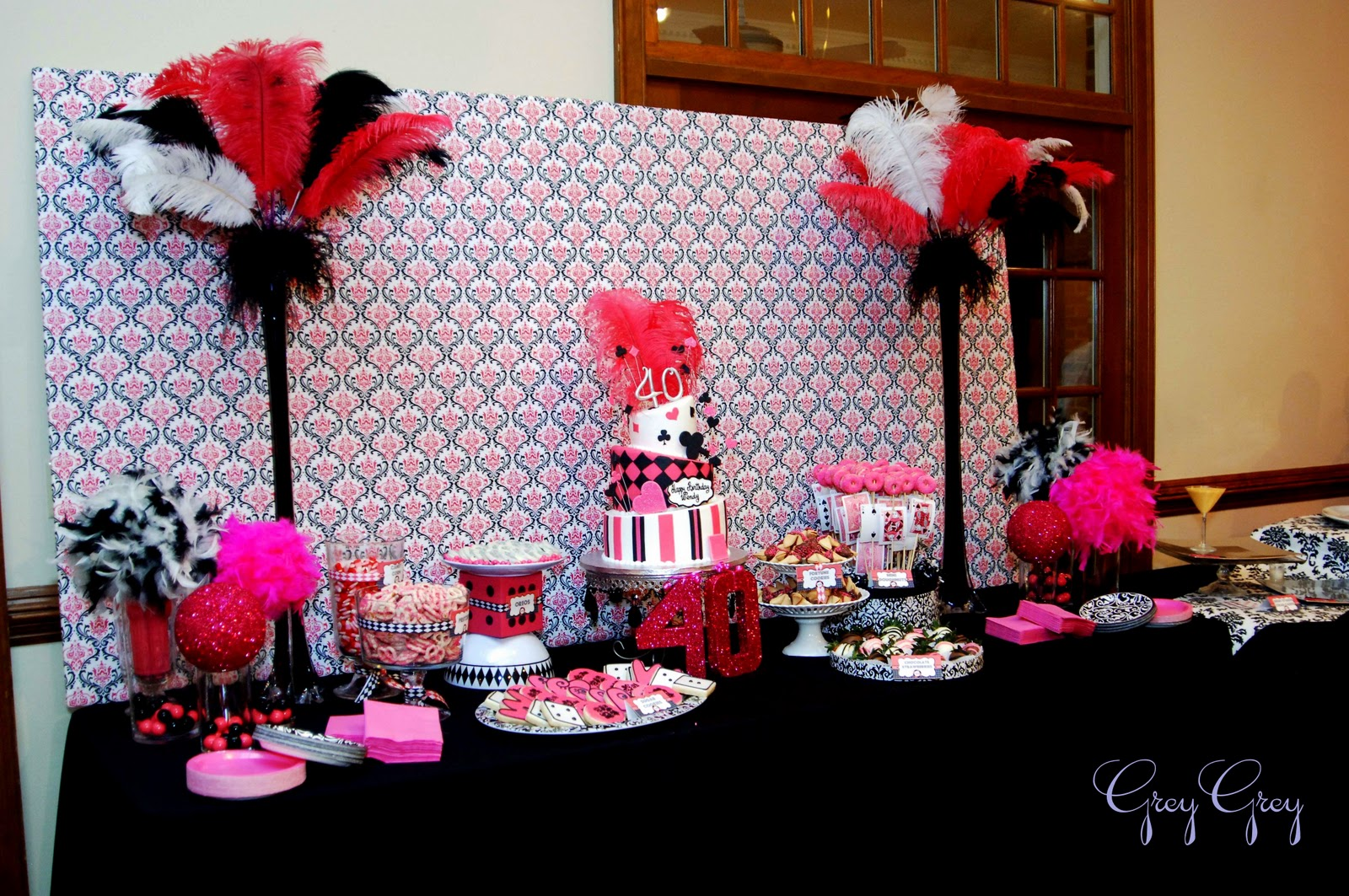 pink and black party decorations 1 desktop wallpaper. Black Bedroom Furniture Sets. Home Design Ideas