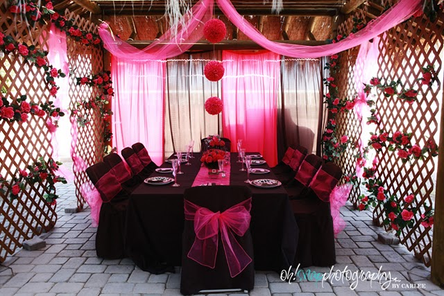 pink and black party decorations 11 wide wallpaper