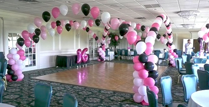 Pink And Black Party Decorations 26 High Resolution Wallpaper