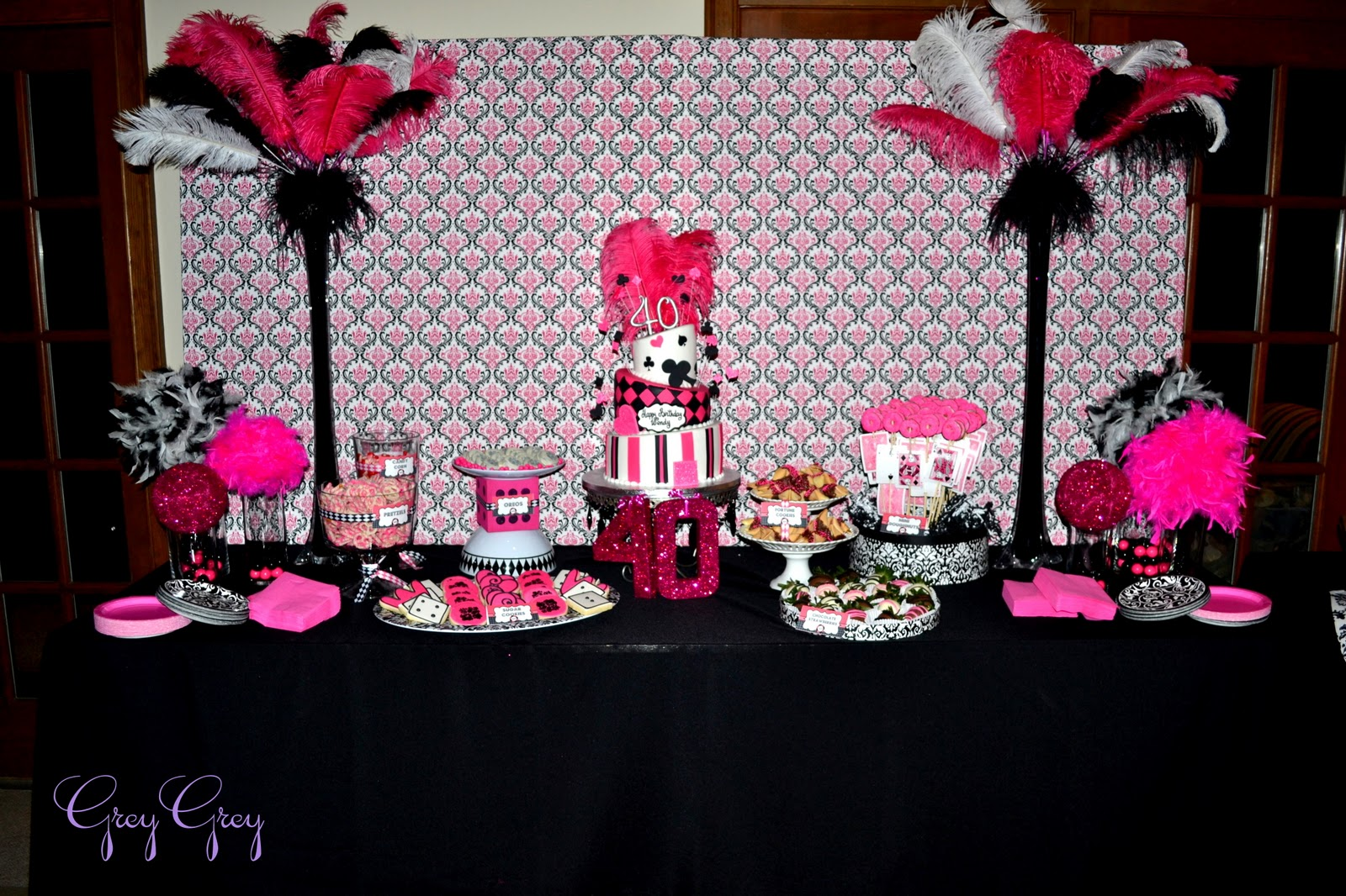 Pink And Black Party Decorations 38 Cool Hd Wallpaper