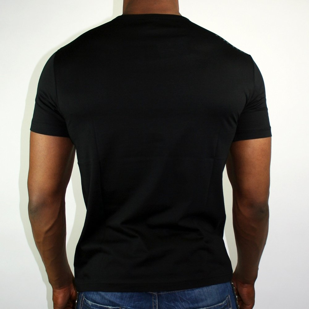 black t shirt model back - photo #23