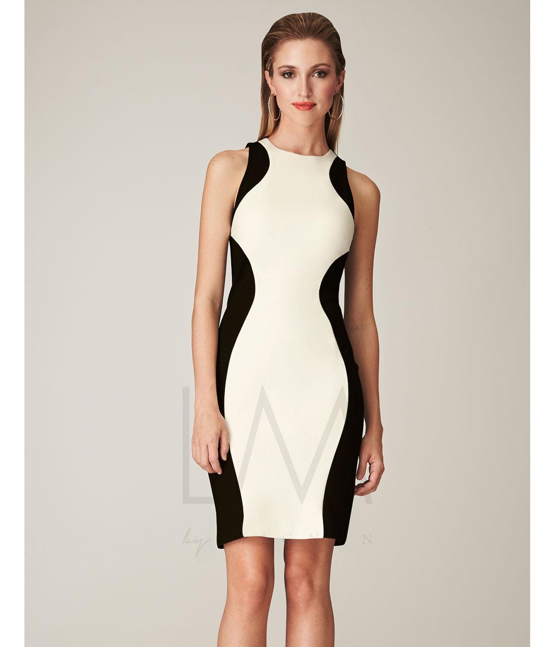 Dress white and black
