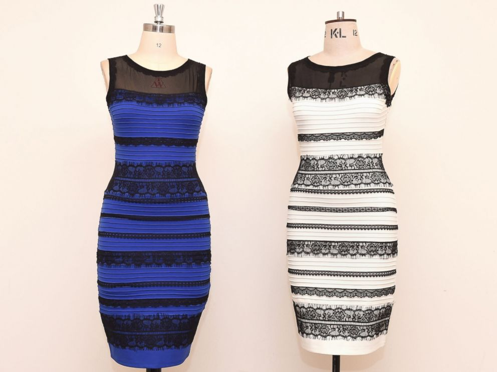 White gold dress blue black meaning